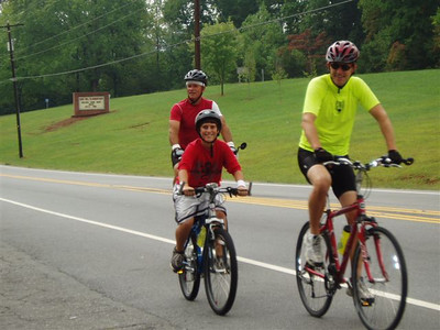 Mark joined the bikers this morning for the last day of riding.