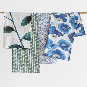 UNC Tea towel set Dandelion + UNC Tea towel set Leafs XL