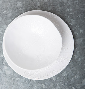 UNC Leaf Bowl and Breakfast Plate