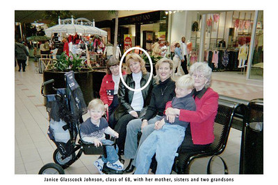 Janice, sisters,  mother and 2 grandsons