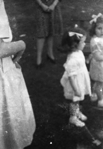 """Two Mothers, Two Daughters  <div class=""""gg_commentary"""">And yet these photos from the attic are more than ordinary snapshots from another era. As I worked on these photographs that I did not take, I began to feel as if I were in a way collaborating with that photographer now gone. And our collaboration was, as collaborations are, full of challenges and compromises. The quality of the images as they are today must be far from what they had been when they were made. I wondered if these negatives had ever been printed. I wondered if the photographer could see these prints now, would he or she be able to see what I see in them? Could they see through their memories of moments lost the luminous presence of the timeless moments they reveal?</div>"""