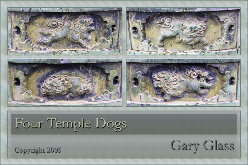 Four Temple Dogs