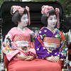 Two Geisha In Rickshaw, Kyoto