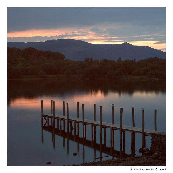 Derwent Water Sunset by Jeff Arthur, taken in the English Lake District