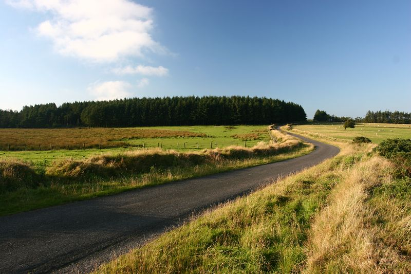 winding road open cornwall journey distance by Jeff Arthur