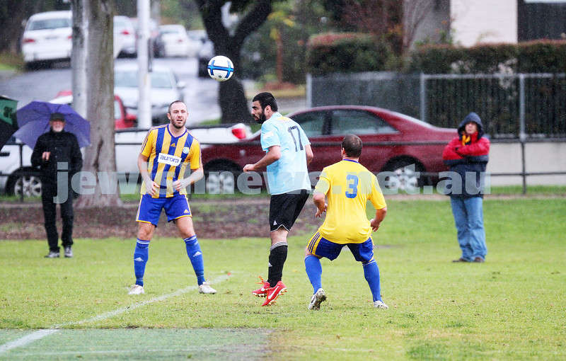 4-5-14. Soccer. North Caulfield Maccabi lost to Beaumaris 1-3. Caulfield Park. Photo: Peter Haskin