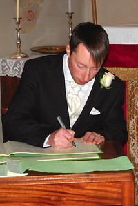 Mark Signing the Register