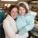 Emily and Madison at Muth\'s Candies.
