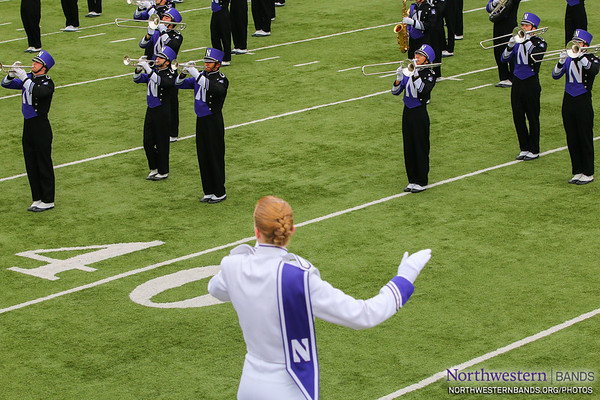 Drum Major Elisabeth Sladek '16 Conducts
