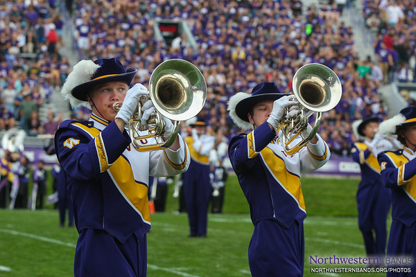 Welcome the Marching Leathernecks to Northwestern