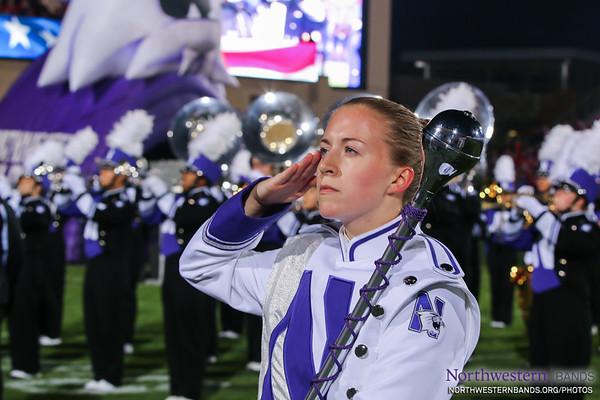 Drum Major Emily Liquin '16 Salutes