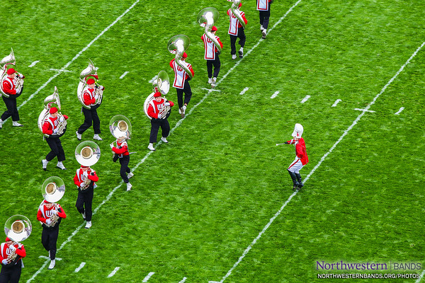 Wisconsin Marching Band - Northwestern vs. Wisonsin - October 4, 2014