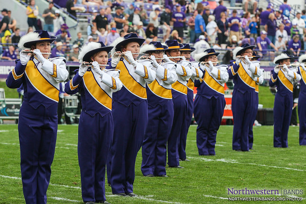 Leatherneck Marching Band Performs at Northwestern
