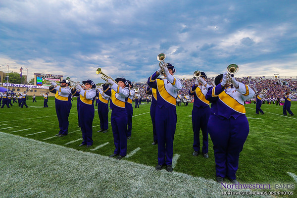 Leatherneck Marching Band - Western Illinois at Northwestern - September 20, 2014