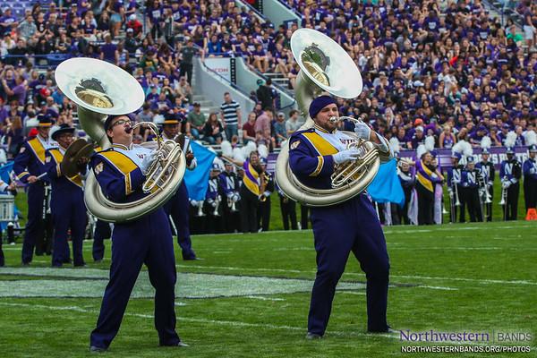 Leatherneck Marching Band - Western Illinois at Northwestern - September 20, 2014