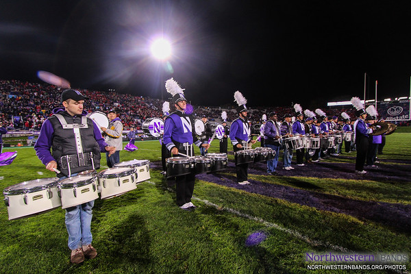 NUMB and NUMBALUMS Drumline on Ryan Field