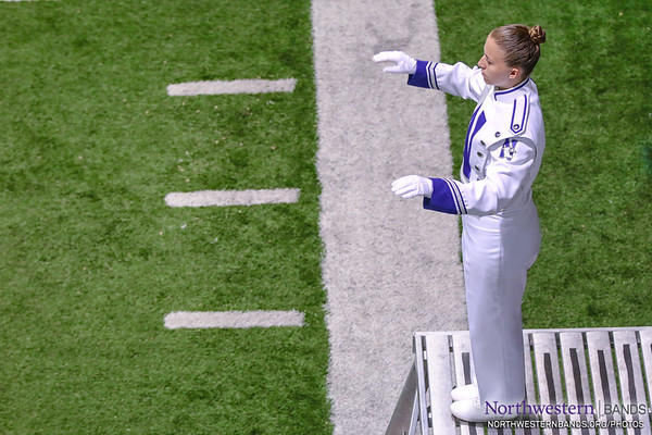 Drum Major Emily Liquin Conducts