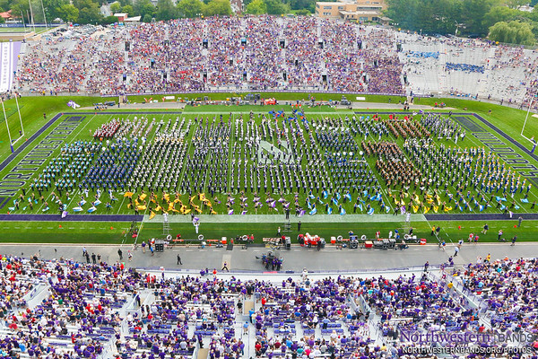 2,000 Musicians Make Magic at Northwestern Universith High School Band Day