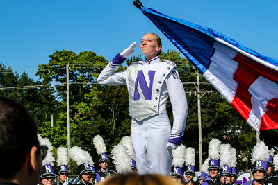Drum Major Elisabeth Sladek Salutes at #WildcatAlley