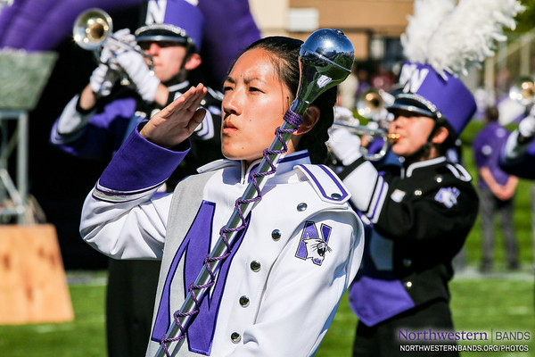 Drum Major Angela Yang Salutes