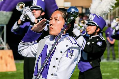 Drum Major Angela Yang Salutes