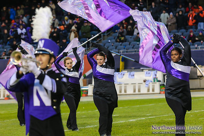 Purple Banner Waving High at Soldier Field