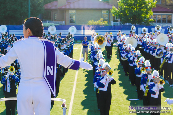 Drum Major Angela Yang Conducts #NUBandDay