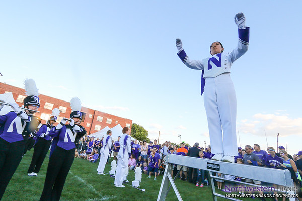 Drum Major Angela Yang Conducts at Wildcat Alley