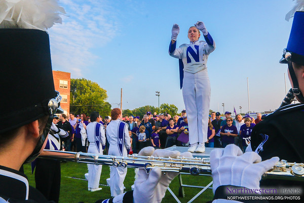 Drum Major Allison Grant Conducts at Wildcat Alley