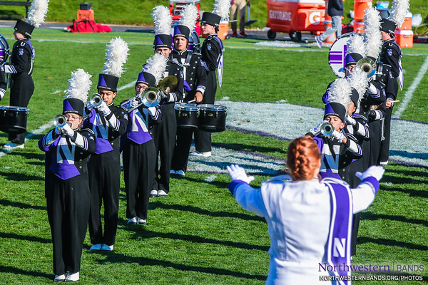 Drum Major Amanda Hermans Conducts