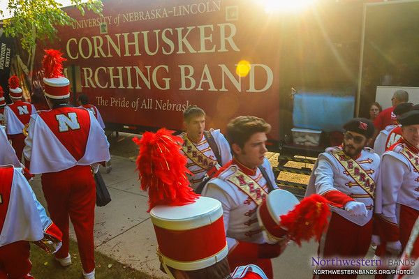 The Cornhusker Band Arrives in Style