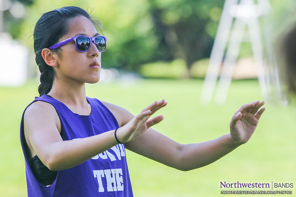 Drum Major Angela Yang Conducts