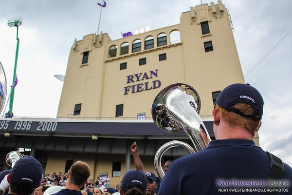 Penn State Blue Band Visits Ryan Field