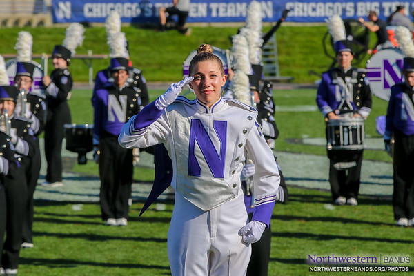 Drum Major Allison Grant Salutes