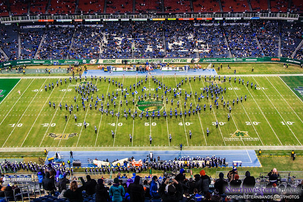 Kentucky Wildcat Marching Band performs at halftime