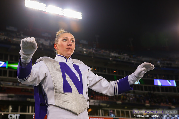 Drum Major Allison Grant Conducts at the Music City Bowl