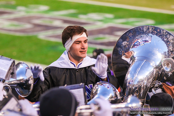 Drum Major Nicholas Pecora Conducts at the Music City Bowl