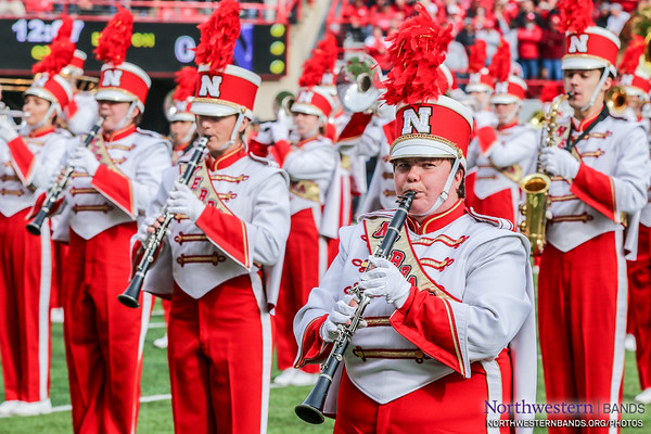 Nebraska Cornhusker Marching Band - Northwestern Football AT Nebraska - November 4, 2017