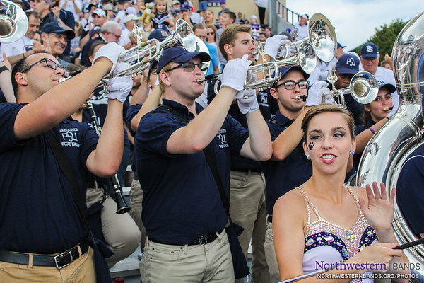 Penn State Blue Band Visits Ryan Field