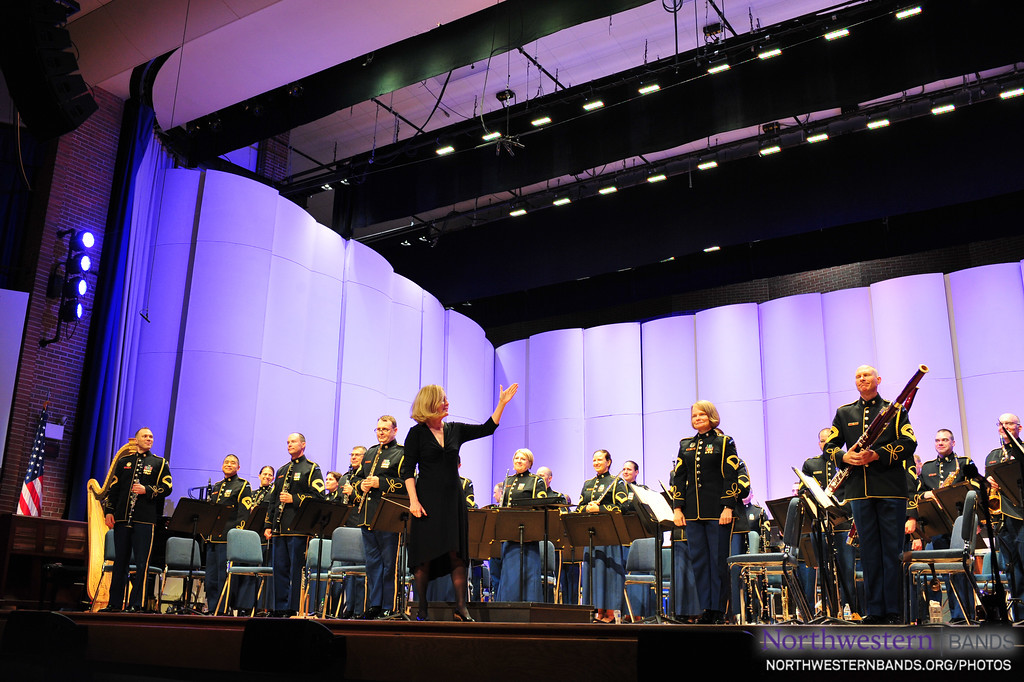 "Dr. Mallory Thompson conducts the U.S. Army Band ""Pershing's Own"" on July 29, 2018. (Photo by  Chris Branagan for the U.S. Army Band.)"