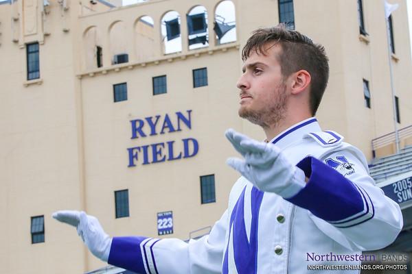 Drum Major Jonathan deBruin's Conducting Debut at Ryan Field