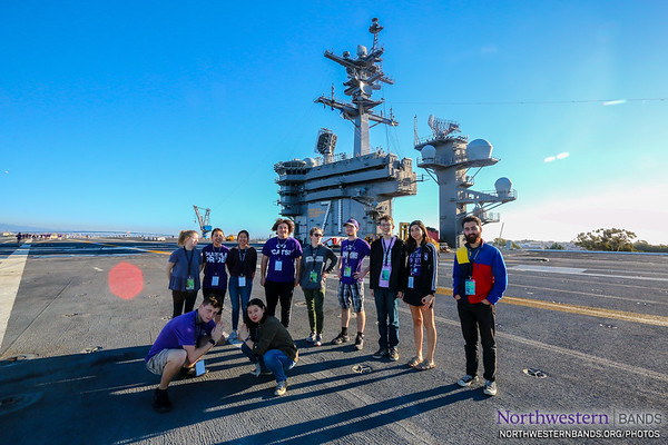 Many Thanks to the @USNavy for Welcoming @NorthwesternU Band Aboard USS Theodore Roosevelt!
