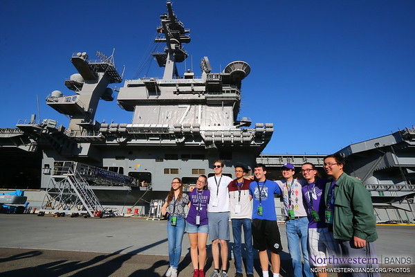 The @NorthwesternU Band is Honored to be Invited Aboard @TheRealCVN71