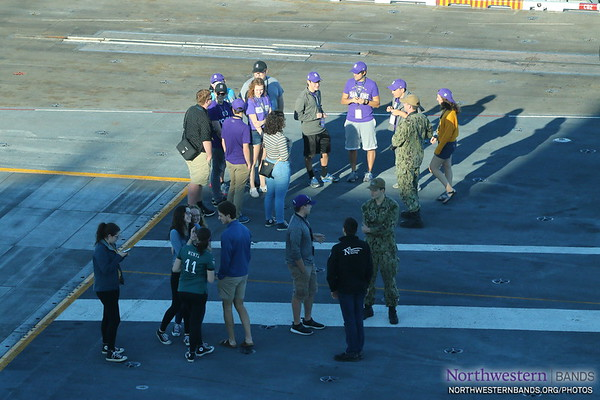 Wildcat Band Members Learn From @USNavy Sailors Aboard USS Theodore Roosevelt
