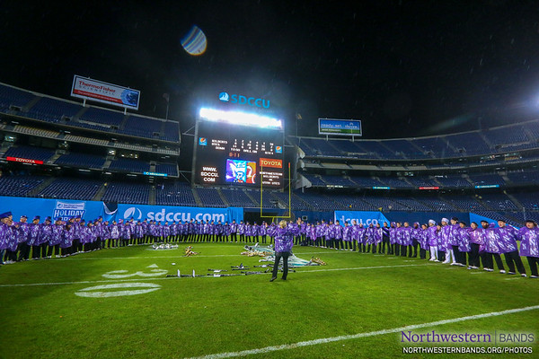 Singing the University Hymn at the Holiday Bowl