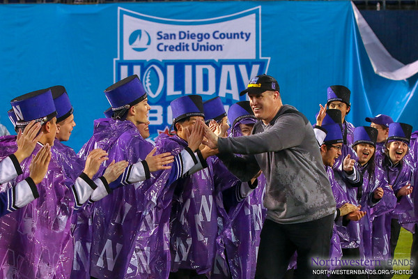 100% Class: @CoachFitz51 High-Fives Every Single NUMBer After Holiday Bowl Victory