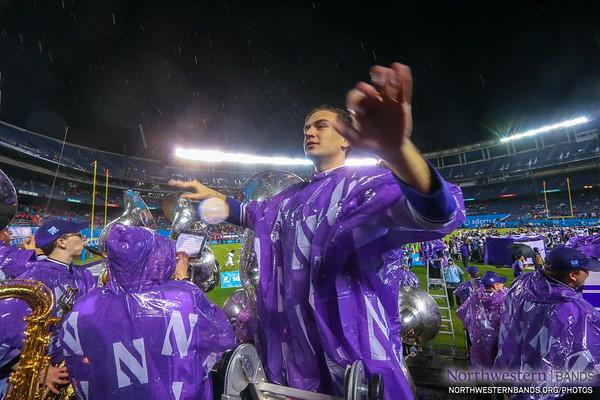 Drum Major Nicholas Pecora Conducts at the Holiday Bowl