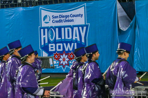 Parading Out of the Holiday Bowl... With Shakos Backwards!