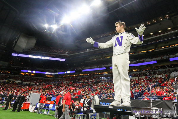 Drum Major Jonathan deBruin Conducts at Lucas Oil Stadium