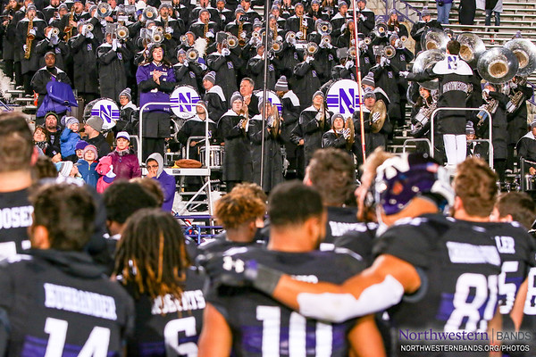 "Drum Major Nicholas Pecora '19 Conducts as @NUFBfamily Sings ""GO U!"""